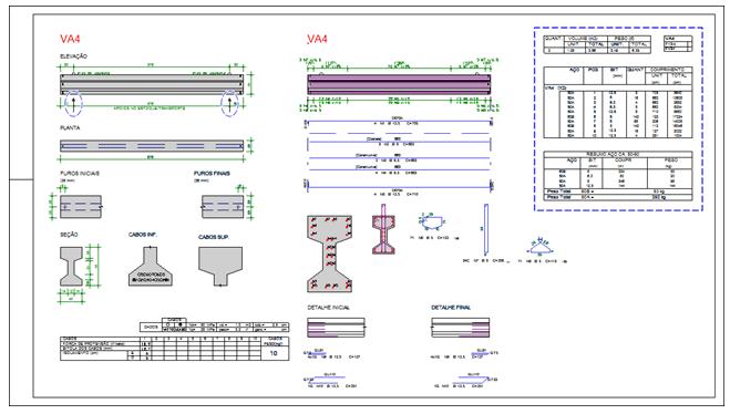 Detalhamento de Vigas Pré-moldadas e pré-fabricadas de Concreto Armado e Protendido
